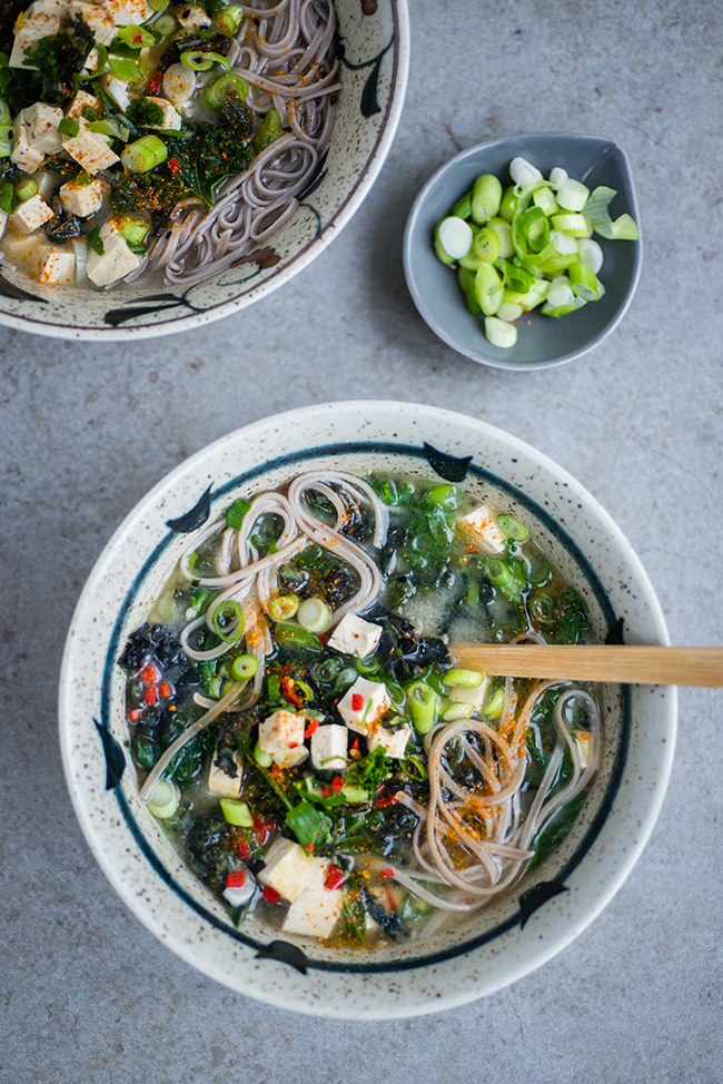 Japanese Miso, Kale and Tofu Soup and In the Mood for Healthy Food ...