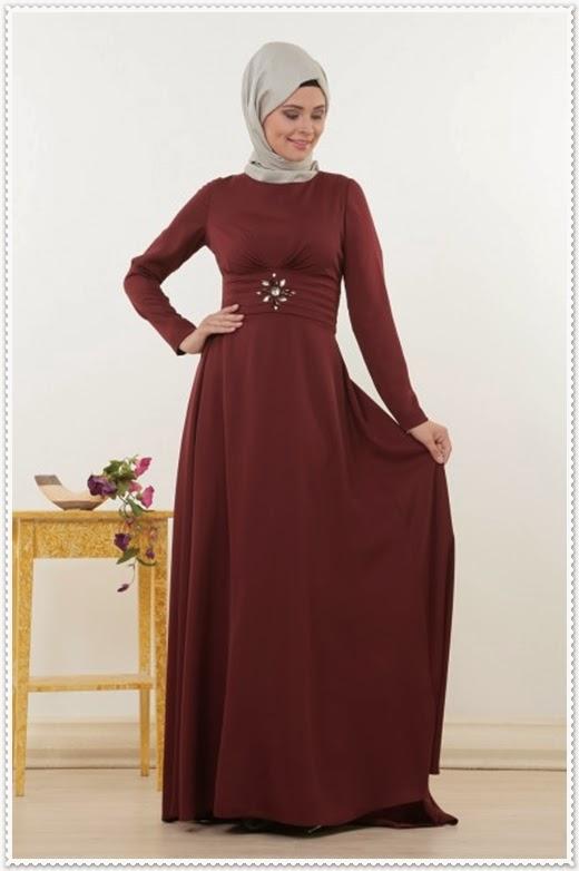 Tuğba&Venn Bordo Elbise