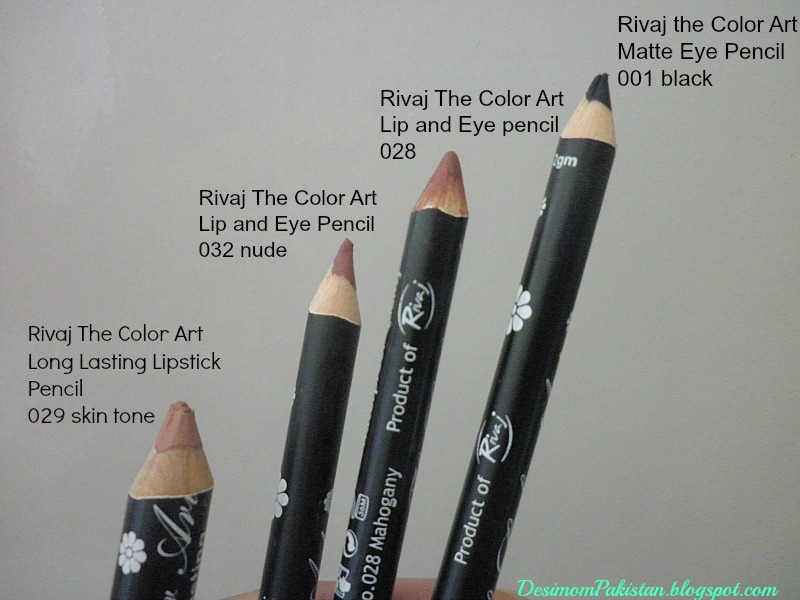 RIVAJ THE COLOR ART LIP AND EYE PENCILS+LONG LASTING   LIPSTICK PENCIL+MATTE EYE PENCI
