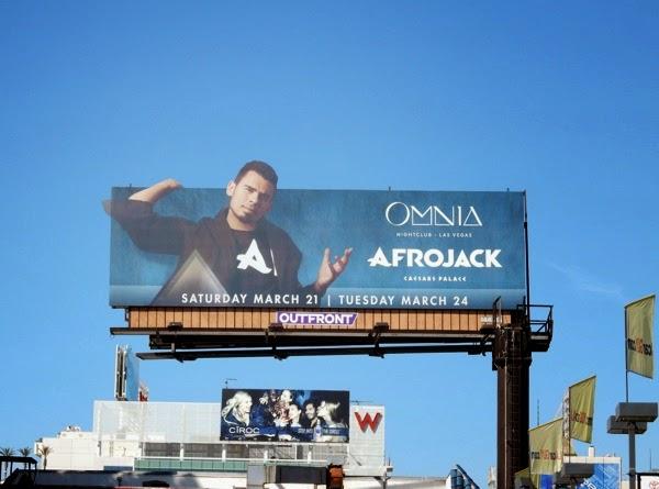 Afrojack Omnia nightclub billboard