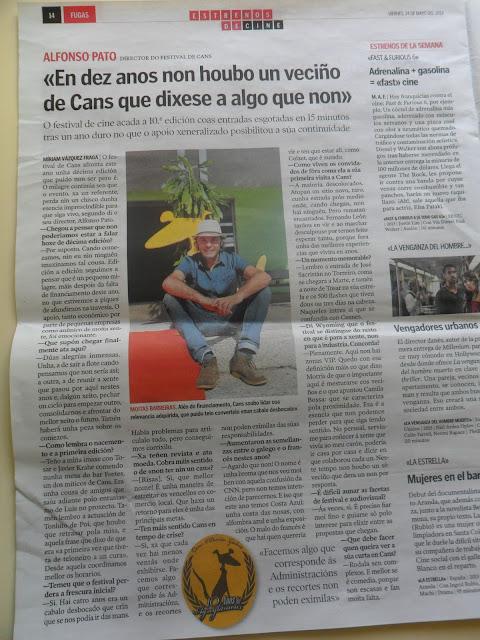 Entrevista con el director del Festival de Cans, Alfonso Pato