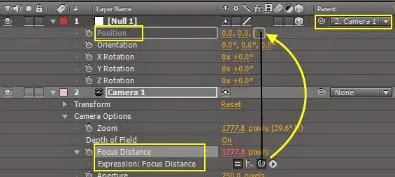 Use Null object control DOF 10