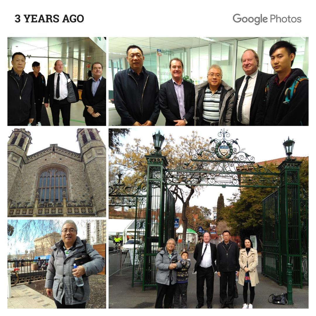 和聖杰文大學校長David走訪澳洲亞德萊特大學