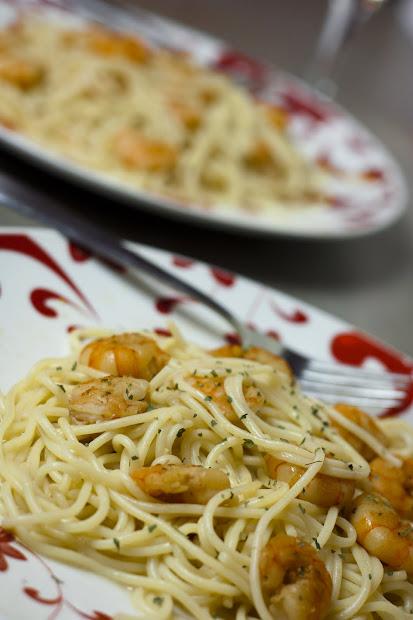 cooks shoot. shrimp scampi