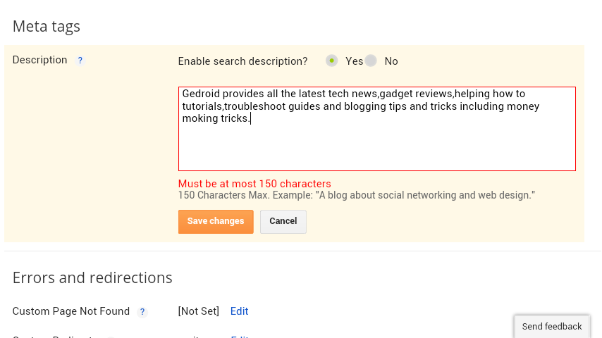 Seo tricks for blogger