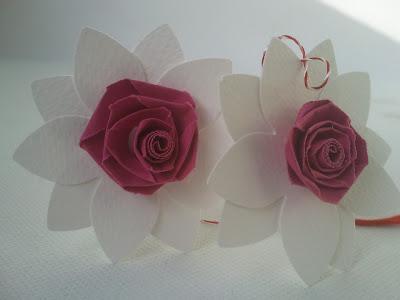 narcise quilling cu trandafiri