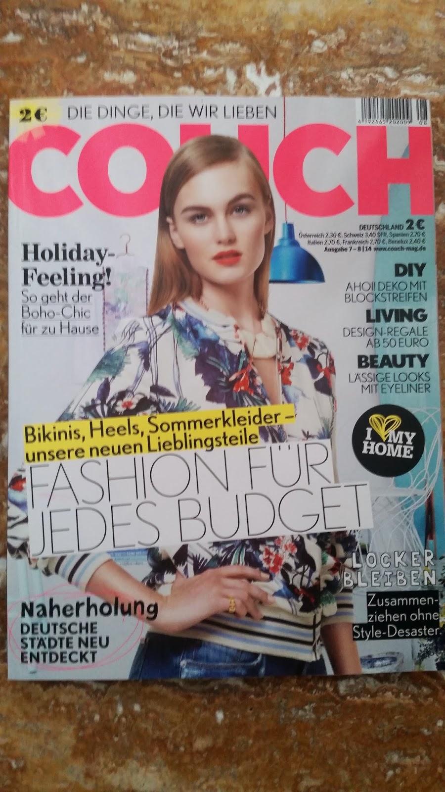 Couch Zeitschrift - www.annitschkasblog.de
