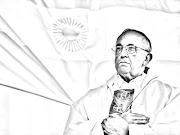 fondo pantalla wallpaper para colorear del Papa Francisco (I)