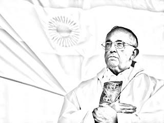 Dibujos del Papa Francisco para colorear