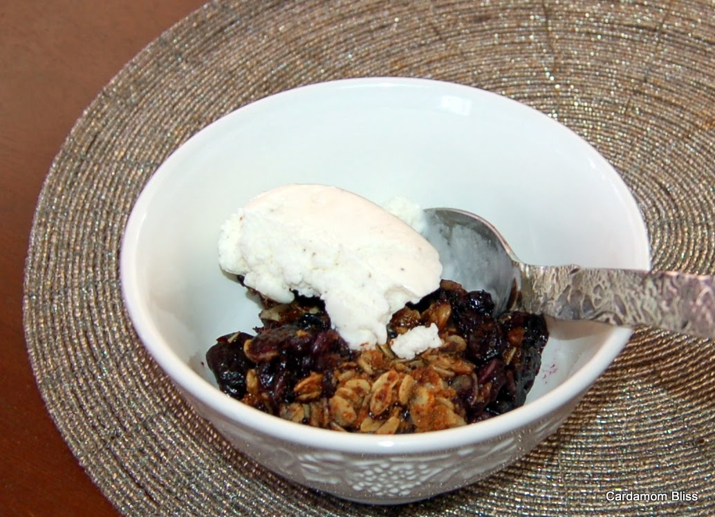 Blueberry and Cherry Crumble