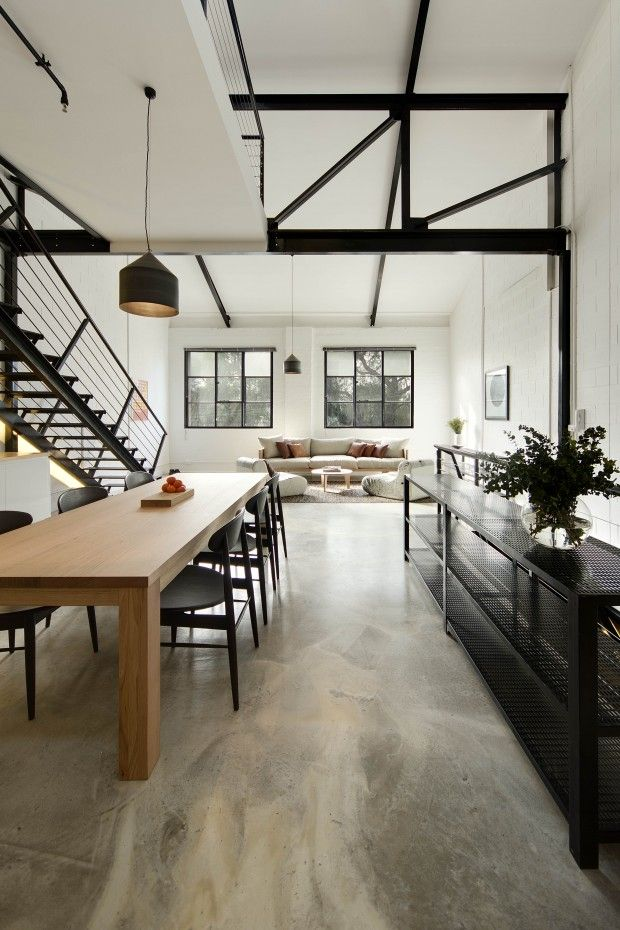Interior inspiration concrete floors for Interior design inspiration industrial