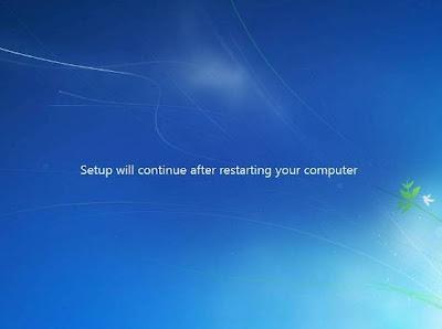 cara instal windows 7 continue