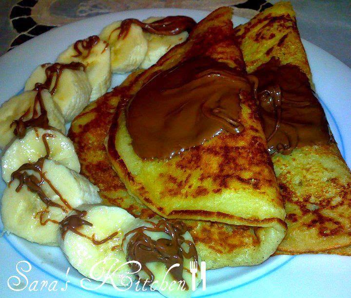 Recette de Banana Pancakes Nutella