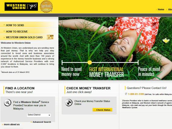 laman web Western Union