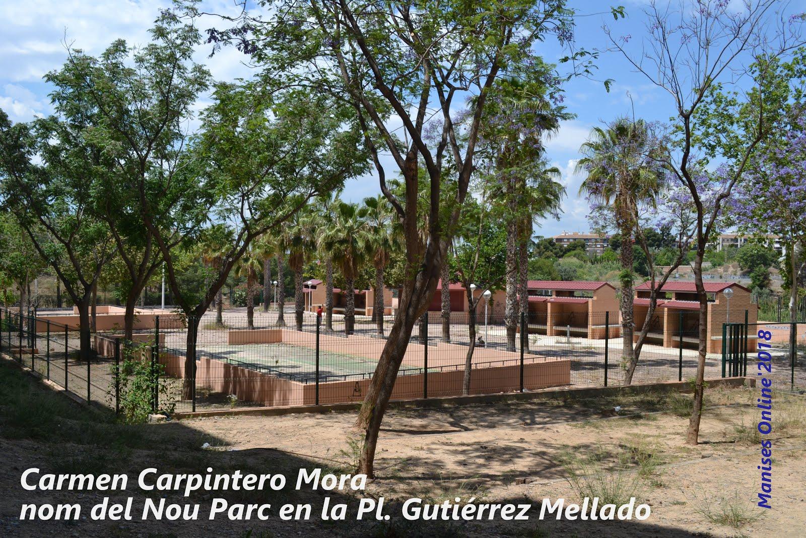 14.05.18 EL NUEVO PARQUE DE MANISES YA TIENE NOMBRE: CARMEN CARPINTERO MORA