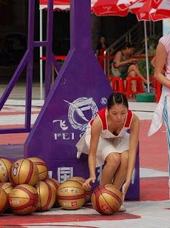 Downblouse Basketball Babe