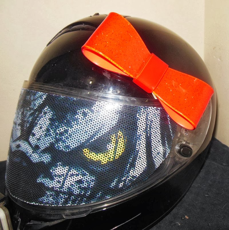 motorcycle helmet bow