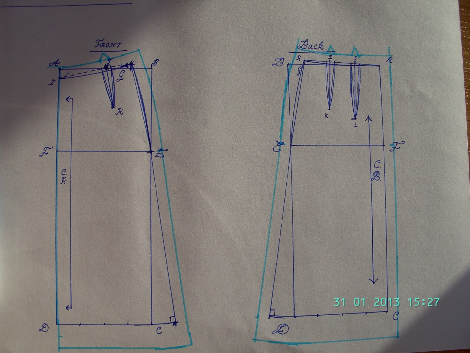 how to draft a custom fit a line skirt pattern