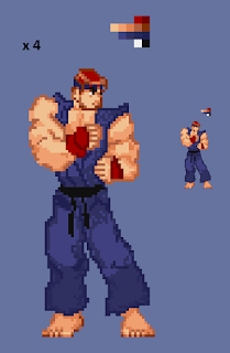 Street fighter pixel art
