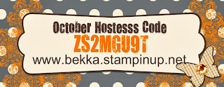 Order from www.bekka.stampinup.net and use Hostess Code ZS2MGU9T during October and you could win some free Stampin' Up! Goodies