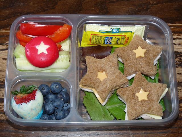 stars bento lunch