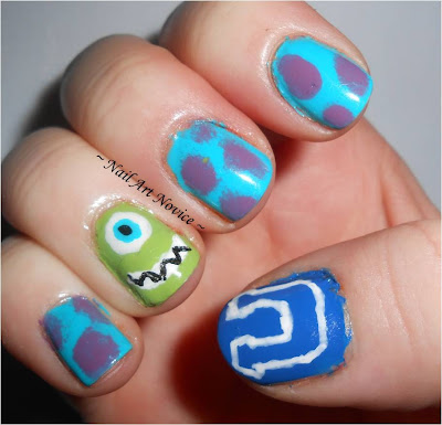 Monsters University Nail Art