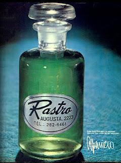 propaganda Rastro - 1971, os anos 70; propaganda na década de 70; Brazil in the 70s, história anos 70; Oswaldo Hernandez;