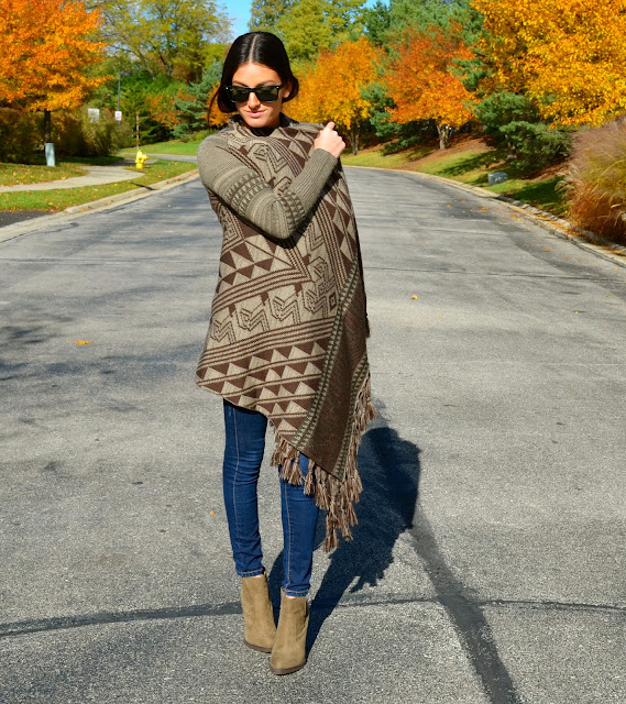 long fall sweater, joie blouse, zara booties, blank nyc denim