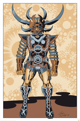 "MondoCon 2015 Exclusive Jack Kirby Lord of Light ""SAM"" Metallic Variant Screen Print by Heavy Metal"
