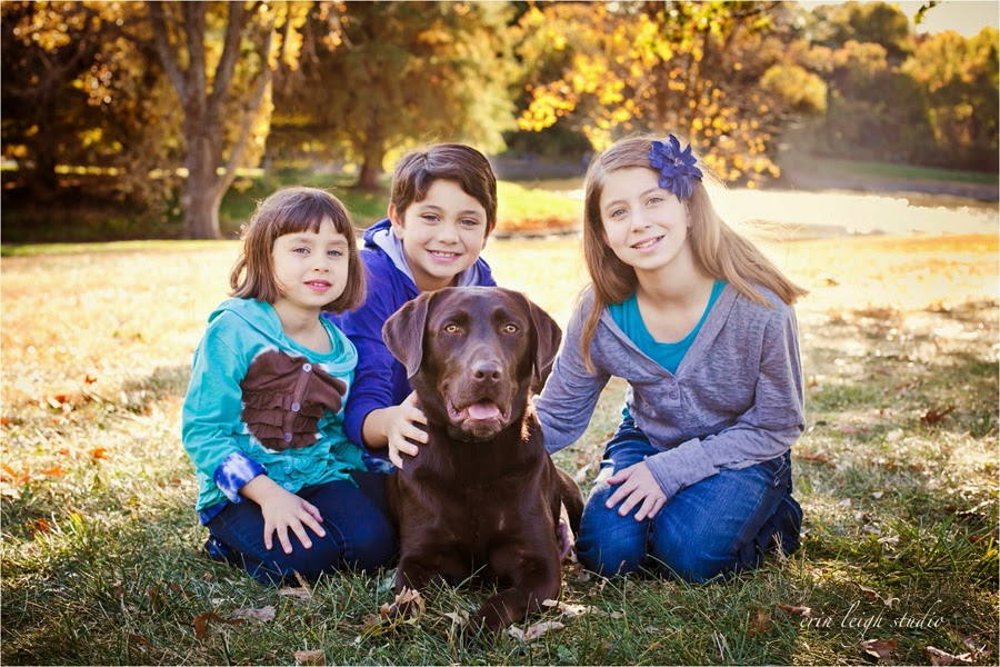 kids and dog photos