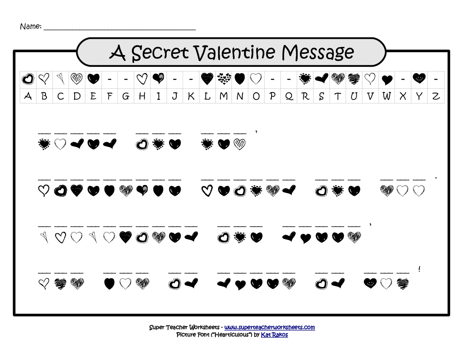 Valentine word scramble puzzles