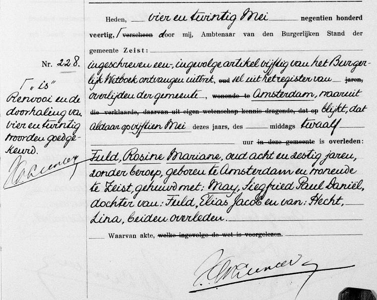 waarvan akte notaris erfgoedwet