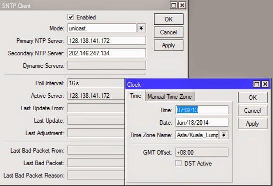 Konfigurasi NTP Client