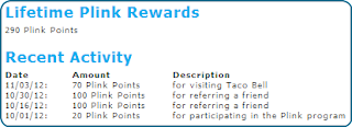 Lifetime plink rewards
