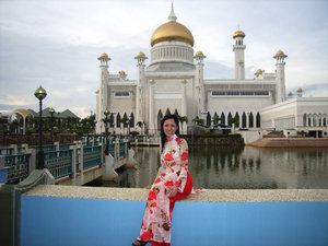 The most famous mosque in Brunei