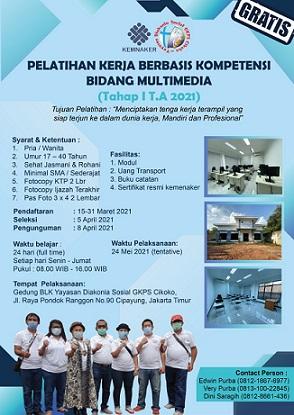 Balai Latihan Kerja Komunitas Bidang Multimedia
