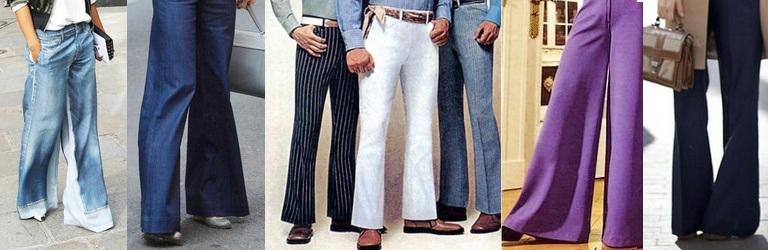 tendenza pantaloni a zampa