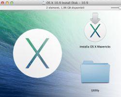 scarica e installa OSX Mavericks