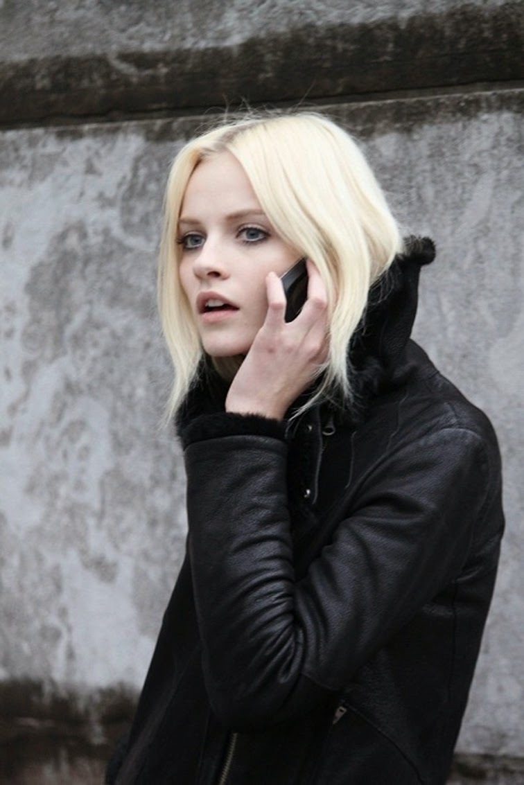 Ginta Lapina bleach blonde off duty