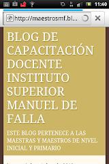 BLOG DE CAPACITACIÓN DOCENTE