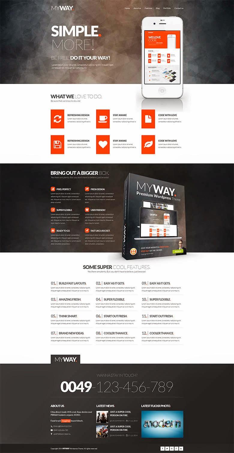 MyWay PSD Template Website