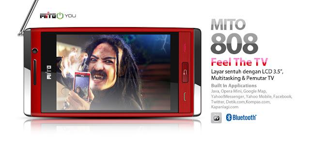 Harga MITO 808 Hp TV Rp. 650 ribu.