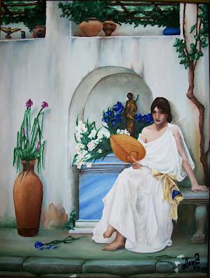 Flora, de John Williams Waterhouse, al óleo