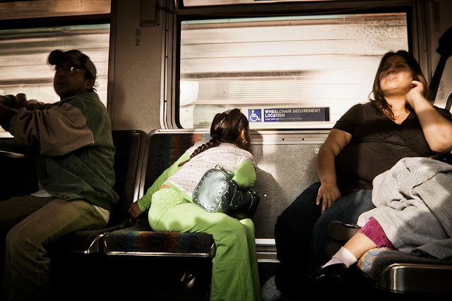 Yong girl on a bus (C)2012 Glenn Primm Photography