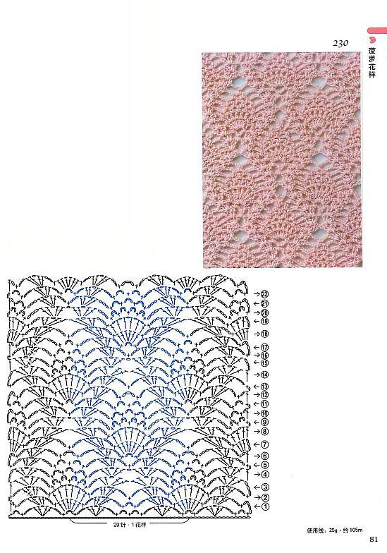 Узоры для вязания крючком копилка узоров
