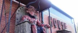 ActiveNews.ro: Parc de distracții pentru copii în București, străjuit de statuia diavolului...