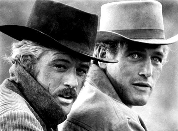Fotografias a preto e branco de celebridades - Robert Redford e Paul Newman