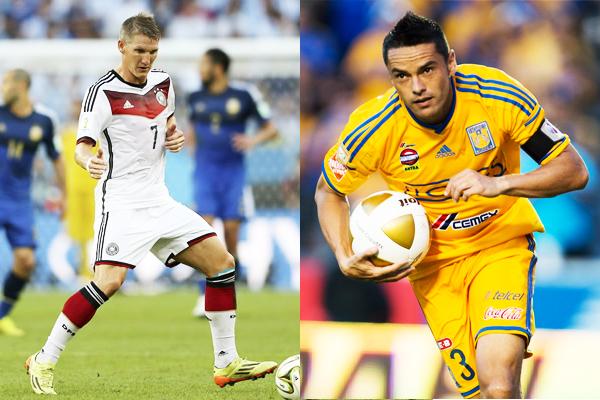 Bastain Schweinsteiger y Juninho, jugador de Alemania y Tigres | Ximinia