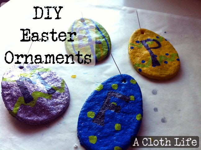 DIY salt dough Easter Ornaments {A Cloth Life}