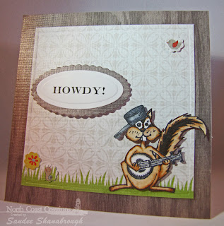 Stamps North Coast Creations Banjo Pickin Chucky- Designer Sandee Shanabrough